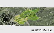 Satellite Panoramic Map of Leshan Shi, semi-desaturated