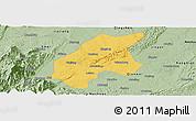Savanna Style Panoramic Map of Leshan Shi