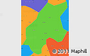 Political Simple Map of Leshan Shi