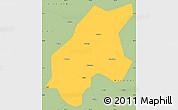 Savanna Style Simple Map of Leshan Shi