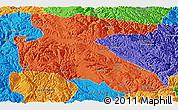 Political Panoramic Map of Litang