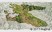 Satellite Panoramic Map of Litang, lighten
