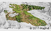 Satellite Panoramic Map of Litang, physical outside