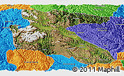 Satellite Panoramic Map of Litang, political outside