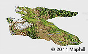 Satellite Panoramic Map of Litang, single color outside