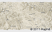 Shaded Relief Panoramic Map of Litang