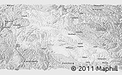 Silver Style Panoramic Map of Litang