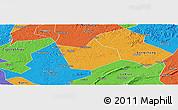 Political Panoramic Map of Longchang