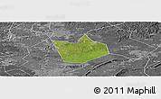 Satellite Panoramic Map of Longchang, desaturated