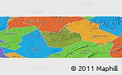 Satellite Panoramic Map of Longchang, political outside