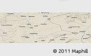 Shaded Relief Panoramic Map of Longchang