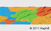 Political Panoramic Map of Lu Xian