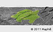 Satellite Panoramic Map of Lu Xian, desaturated
