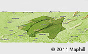 Satellite Panoramic Map of Lu Xian, physical outside