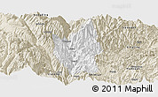 Classic Style Panoramic Map of Luding