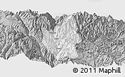 Gray Panoramic Map of Luding