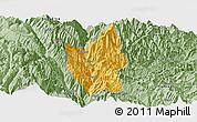 Savanna Style Panoramic Map of Luding