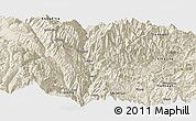 Shaded Relief Panoramic Map of Luding