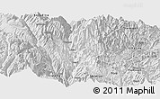 Silver Style Panoramic Map of Luding
