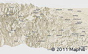 Shaded Relief Panoramic Map of Mabian