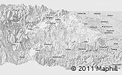 Silver Style Panoramic Map of Mabian