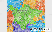 Political Shades Map of Sichuan