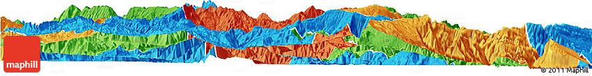 Political Horizon Map of Meigu