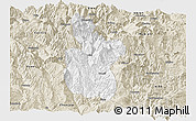 Classic Style Panoramic Map of Meigu