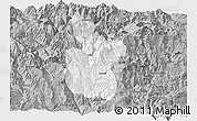 Gray Panoramic Map of Meigu