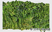 Satellite Panoramic Map of Meigu