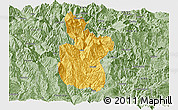 Savanna Style Panoramic Map of Meigu