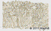 Shaded Relief Panoramic Map of Meigu