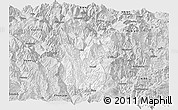 Silver Style Panoramic Map of Meigu