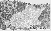 Gray Panoramic Map of Mianning