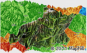 Satellite Panoramic Map of Mianning, political outside