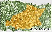 Savanna Style Panoramic Map of Mianning