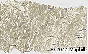 Shaded Relief Panoramic Map of Mianning