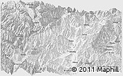 Silver Style Panoramic Map of Mianning