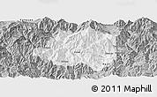 Gray Panoramic Map of Miyi