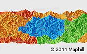 Political Panoramic Map of Miyi