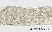Shaded Relief Panoramic Map of Miyi