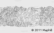 Silver Style Panoramic Map of Miyi