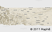Shaded Relief Panoramic Map of Muchuan