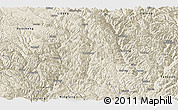 Shaded Relief Panoramic Map of Muli