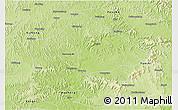 Physical 3D Map of Nanchong