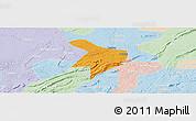 Political Panoramic Map of Nanxi, lighten
