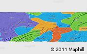 Political Panoramic Map of Nanxi