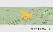 Savanna Style Panoramic Map of Nanxi