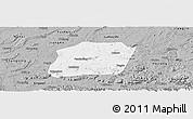 Gray Panoramic Map of Naxi