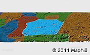Political Panoramic Map of Naxi, darken